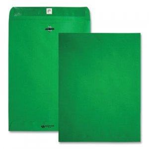 Quality Park Fashion Color Clasp Envelope, 9 x 12, 28lb, Green, 10/Pack QUA38735