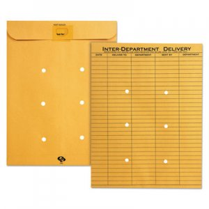 Quality Park Brown Kraft Resealable Redi Tac Interoffice Envelope, 10 x 13, 100/BX QUA63664