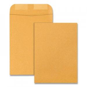 Quality Park Catalog Envelope, #6, Cheese Blade Flap, Gummed Closure, 7.5 x 10.5, Brown Kraft, 500/Box QUA41065