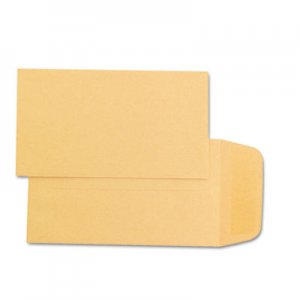 Quality Park Kraft Coin & Small Parts Envelope, #1, Square Flap, Gummed Closure, 2.25 x 3.5, Brown Kraft, 500
