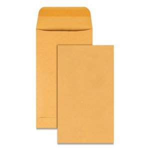 Quality Park Kraft Coin & Small Parts Envelope, #5 1/2, Square Flap, Gummed Closure, 3.13 x 5.5, Brown