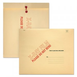 Quality Park X-Ray Film Mailer, Square Flap, String & Button Closure, 18 x 15, Manila, 100/Carton QUAE8894