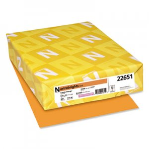 Astrobrights Color Paper, 24lb, 8 1/2 x 11, Cosmic Orange, 500 Sheets WAU22651 22651