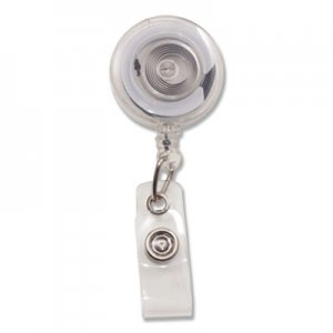 "Advantus Translucent Retractable ID Card Reel, 34"" Extension, Clear, 12/Pack AVT75473 75473"