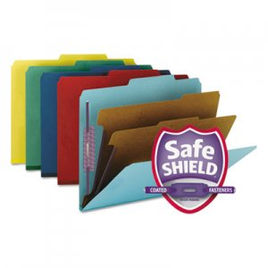 Smead Pressboard Classification Folders, Letter, Six-Section, Assorted, 10/Box SMD14025 14025