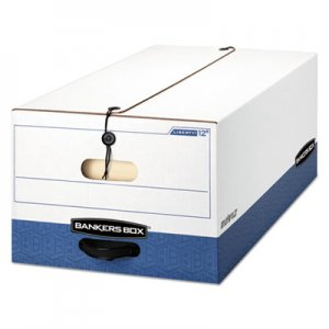 """Bankers Box LIBERTY Heavy-Duty Strength Storage Boxes, Legal Files, 15.25"""" x 24.13"""" x 10.75"""", White/Blue"""