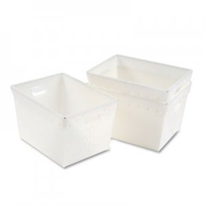 "Safco Mail Totes, 13.25"" x 18.25"" x 11.5"", Translucent White, 3/Carton MLN90225 90225"
