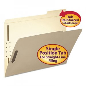 Smead Folder, Two Fasteners, 1/3 Cut Third Position, Top Tab, Letter, Manila, 50/Box SMD14538 14538