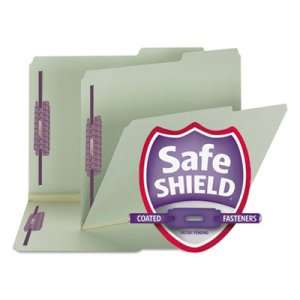 Smead Two Inch Expansion Fastener Folder, 2/5 Tab, Letter, Gray Green, 25/Box SMD14920 14920