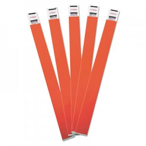 Advantus Crowd Management Wristbands, Sequentially Numbered, 10 x 3/4, Red, 100/Pack AVT75441 75441