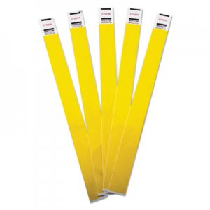 Advantus Crowd Management Wristbands, Sequentially Numbered, 10 x 3/4, Yellow, 100/Pack AVT75444 75444