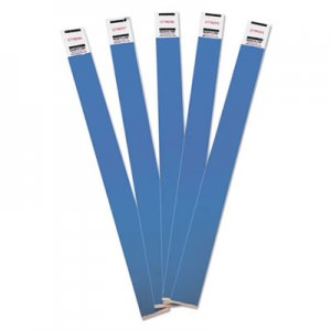 Advantus Crowd Management Wristbands, Sequentially Numbered, 10 x 3/4, Blue, 100/Pack AVT75442 75442