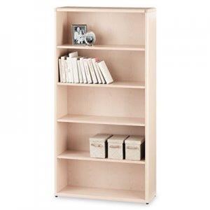 HON 10700 Series Wood Bookcase, Five Shelf, 36w x 13 1/8d x 71h, Natural Maple HON10755DD H10755.DD