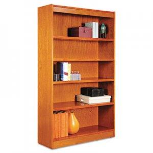 "Alera Square Corner Wood Bookcase, Five-Shelf, 35.63""w x 11.81""d x 60""h, Medium Cherry ALEBCS56036MC"