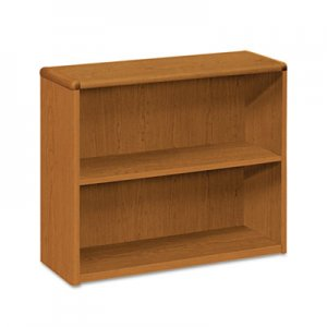 HON 10700 Series Wood Bookcase, Two Shelf, 36w x 13 1/8d x 29 5/8h, Bourbon Cherry HON10752HH H10752