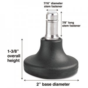 Master Caster Low Profile Bell Glides, B Stem, 110 lbs/Glide, 5/Set MAS70178 70178