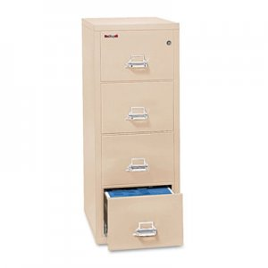 FireKing Four-Drawer Vertical File, 17-3/4 x 31-9/16, UL 350 for Fire, Letter, Parchment FIR41831CPA 4