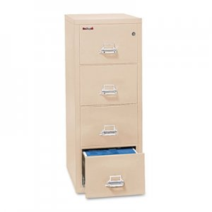 FireKing Four-Drawer Vertical File, 20-13/16w x 25d, UL 350 for Fire, Legal, Parchment FIR42125CPA 4-2125-CPA