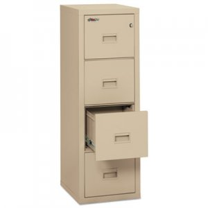 FireKing Turtle Four-Drawer File, 17 3/4w x 22 1/8d, UL Listed 350 for Fire, Parchment FIR4R1822CPA 4R1822