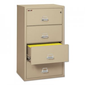 FireKing Four-Drawer Lateral File, 31-1/8 x 22-1/8, UL Listed 350 , Ltr/Legal, Parchment FIR43122CPA 4