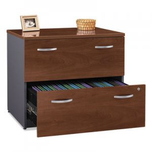 Bush Series C Collection 2 Drawer 36W Lateral File (Assembled), 35.75w x 23.38d x 29.88h, Hansen Cherry