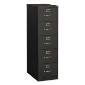 HON 310 Series Five-Drawer Full-Suspension File, Legal, 18.25w x 26.5d x 60h, Charcoal HON315CPS H315C.P