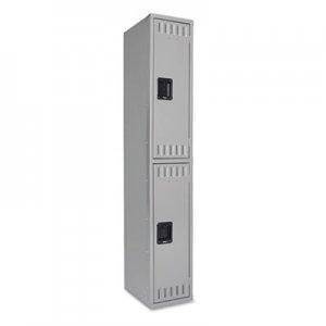 Tennsco Double Tier Locker, Single Stack, 12w x 18d x 72h, Medium Gray TNNDTS121836AMG DTS121836AMG