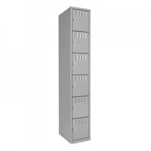 Tennsco Box Compartments, Single Stack, 12w x 18d x 72h, Medium Gray TNNBS6121812AMG BS6121812AMG
