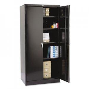 "Tennsco 78"" High Deluxe Cabinet, 36w x 24d x 78h, Black TNN2470BK 2470BK"
