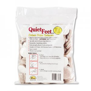 """Master Caster Quiet Feet Deluxe Noise Reducers, 1.25"""" dia, Circular, Beige, 100/Pack MAS88847 88847"""