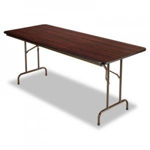 Alera Wood Folding Table, Rectangular, 72w x 29 3/4d x 29h, Walnut ALEFT727230MY FT727230MY