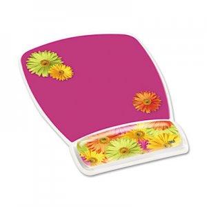 3M Fun Design Clear Gel Mouse Pad Wrist Rest, 6 4/5 x 8 3/5 x 3/4, Daisy