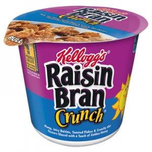 Kellogg's Breakfast Cereal, Raisin Bran Crunch, Single-Serve 2.8 oz Cup, 6/Box KEB01474 3800012474