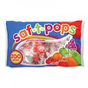 Saf-T-Pops Saf-T-Pops, Assorted Flavors, Individually Wrapped, 200/Pack SPA182 182