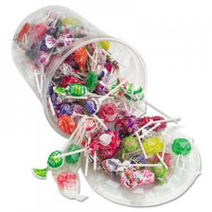 Office Snax Top o' the Line Pops, Candy, 3.5 lb Tub OFX00017 00017