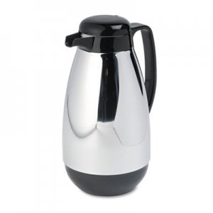Hormel Vacuum Glass Lined Chrome-Plated Carafe, 1L Capacity, Black Trim HORPM10CJ PM10CJ