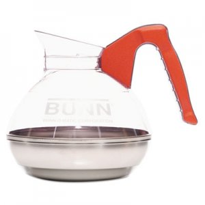 BUNN 64 oz. Easy Pour Decanter, Orange Handle BUN6101 06101.0101