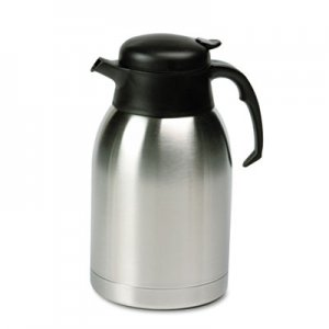 Hormel Stainless Steel Lined Vacuum Carafe, 1.9L, Satin Finish/Black Trim HORSVC190 SVC190
