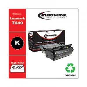 Innovera Remanufactured 12A7362 (T630) High-Yield Toner, 21000 Page-Yield, Black IVR83362
