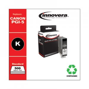 Innovera Remanufactured Black Ink, Replacement for Canon PGI-5BK (0628B002), 500 Page-Yield IVRPGI5BK