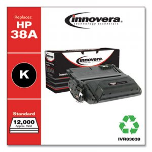 Innovera Remanufactured Q1338A (38A) Toner, 12000 Page-Yield, Black IVR83038