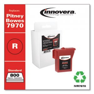 Innovera Compatible Red Postage Meter Ink, Replacement for Pitney Bowes 797-0 (7970), 800 Page-Yield IVR7970