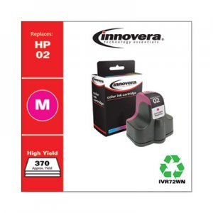 Innovera Remanufactured C8772WN (02) Ink, 370 Page-Yield, Magenta IVR72WN