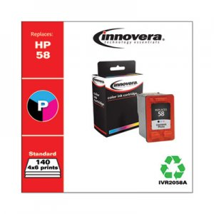 Innovera Remanufactured Photo Ink, Replacement for HP 58 (C6658AN), 140 Page-Yield IVR2058A