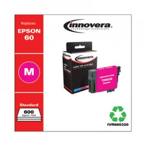 Innovera Remanufactured Magenta Ink, Replacement for Epson 60 (T060320), 600 Page-Yield IVR860320