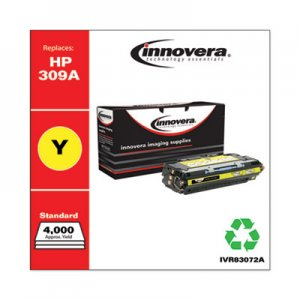 Innovera Remanufactured Q2672A (309A) Toner, 4000 Page-Yield, Yellow IVR83072A