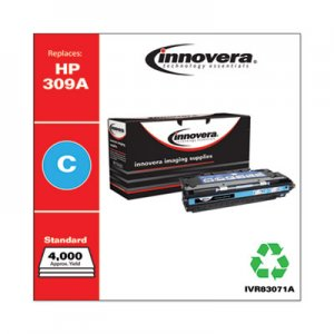 Innovera Remanufactured Cyan Toner, Replacement for HP 309A (Q2671A), 4,000 Page-Yield IVR83071A