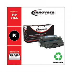 Innovera Remanufactured Black Toner, Replacement for HP 70A (Q7570A), 15,000 Page-Yield IVR7570A