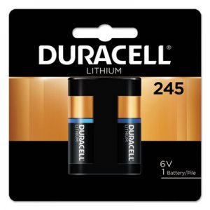 Duracell Ultra High Power Lithium Battery, 245, 6V, 1/EA DURDL245BPK DL245BPK