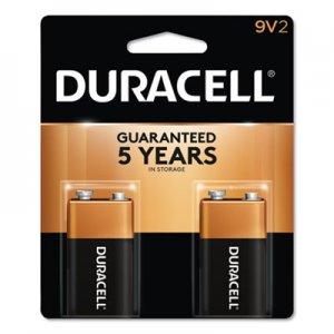 Duracell CopperTop Alkaline 9V Batteries, 2/Pack DURMN1604B2Z MN1604B2Z